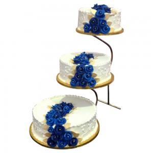 3 tier step stand weddding cake