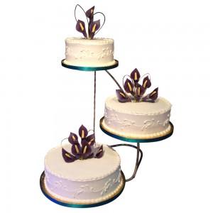 3 tier offset wedding cake
