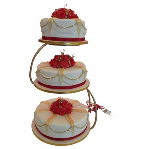 3 tier S Stand wedding cake