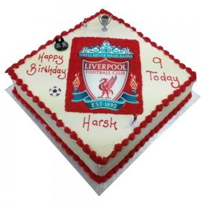 Square Liverpool Logo Cake