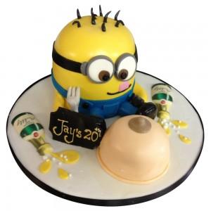 Minnion Adults Cake
