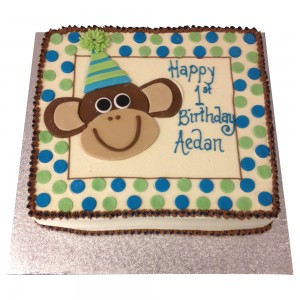 Monkey Buttercream Cake