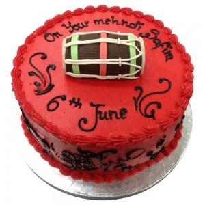 Red Dhol Mehndi Cake