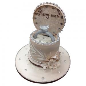 Engagement Proposal Cake