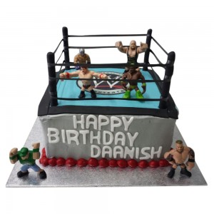 Square WWE Wrestling Ring Cake