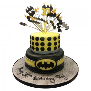 2 tier 30th Batman Cake