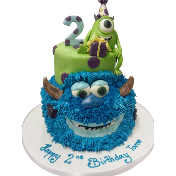 2 Tier Monsters Birthday Cake