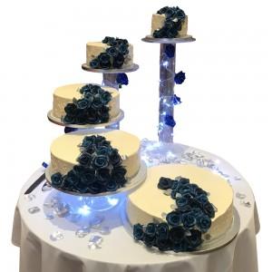 5 tier buttercream roses trail wedding cake
