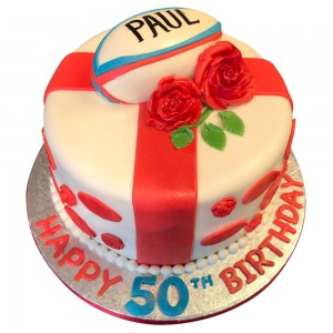 50th England Rugby Cake