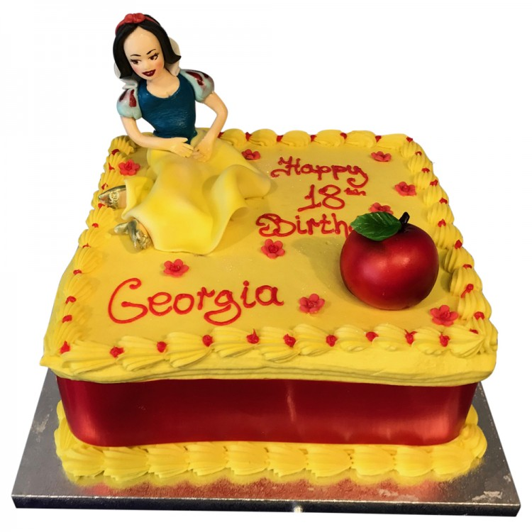 Phenomenal Snow White Topper Cake Buttercream Cakes In Leicester Funny Birthday Cards Online Alyptdamsfinfo