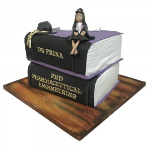 Pharmacy Graduation Books Cake