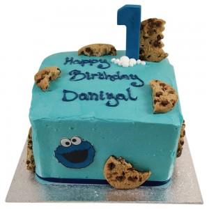 Blue Cookies Kids Cake