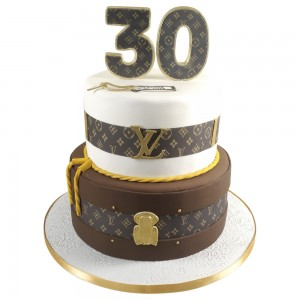 2 Tier Louis Vuitton Gents 30th Birthday Cake