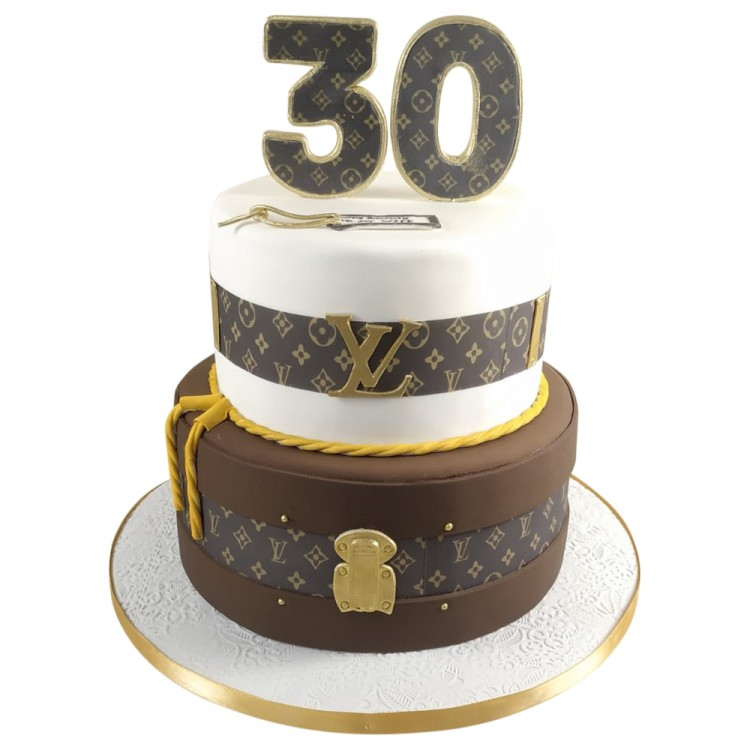 Pleasant 2 Tier Louis Vuitton Gents 30Th Birthday Cake Leics Personalised Birthday Cards Paralily Jamesorg