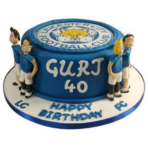 Leicester City Toppers Brithday Cake