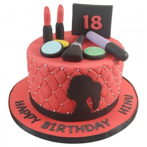 Girls 18th Make Up Toppers Cake