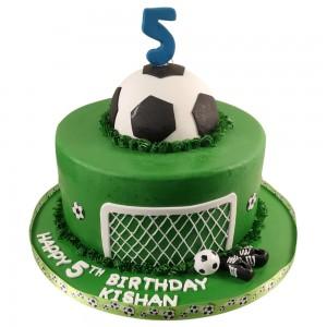 Round Football Goal post Cake