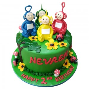 Round Tellytubbies Toppers Cake
