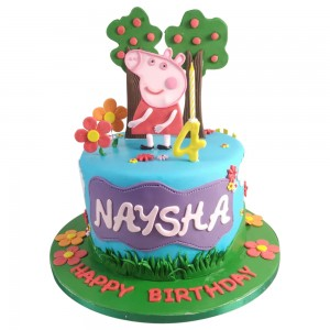 Peppa Pig Cutout Toppers Cake