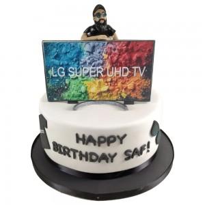 LG TV Youtube Topper Cake