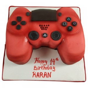 Red Playstation Controller Cake