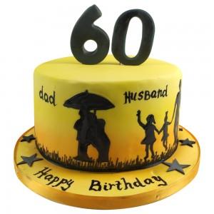 Grandads Story Silhouette Cake
