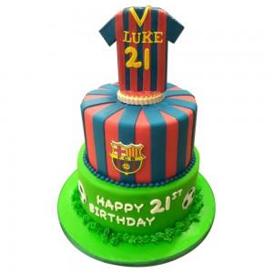 2 tier Barcelona cake
