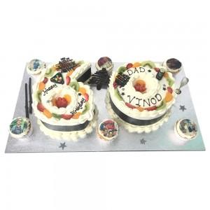 6 and 0 freshcream cake