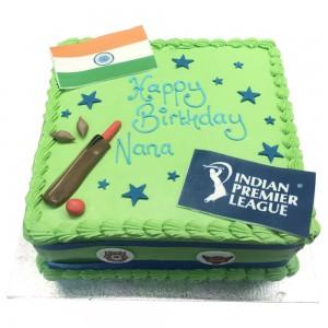 Square Buttercream India Cricket Cake
