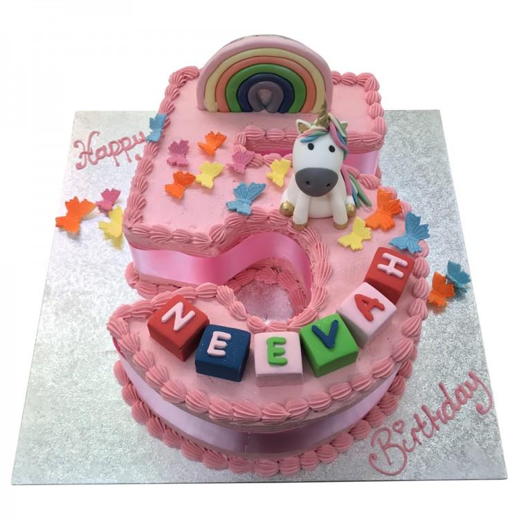 Cool Girls Number 5 Unicorn Shape Cake Number Cake Leicester Personalised Birthday Cards Akebfashionlily Jamesorg