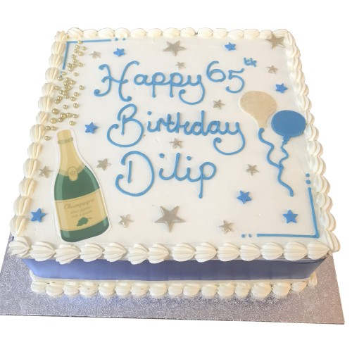 65th Buttercream Birthday Cake