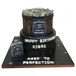 2 Tier Jack Daniels Cake