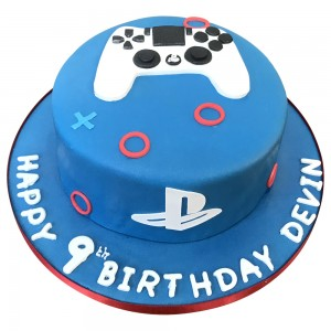 Playstation Cake with Controller topper