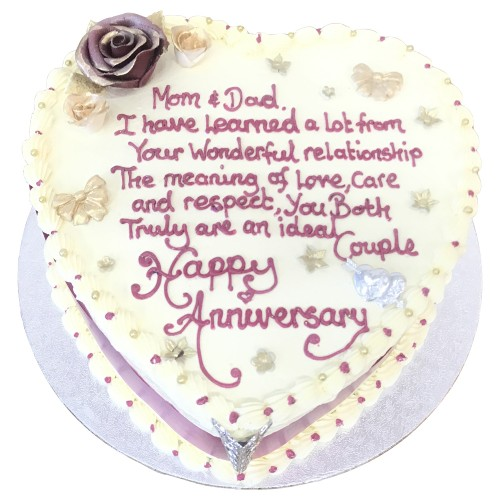 Anniversary cake for parents