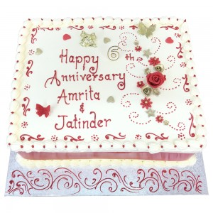 Anniversary cake in Buttercream