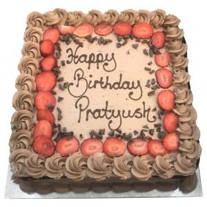 Chocolate and Strawberries Freshcream Cake