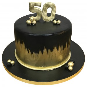Black and gold Ombre Mens Cakes