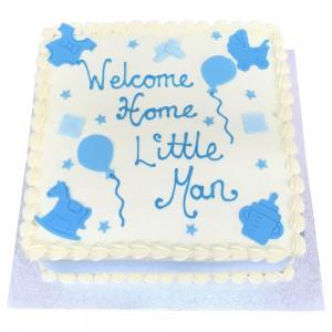 New Arrival Baby Boy Buttercream Cake