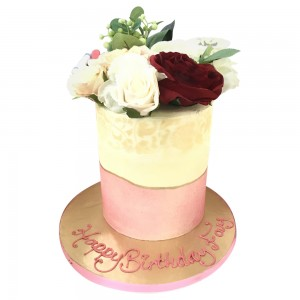 Girls Pink and white Tall cake