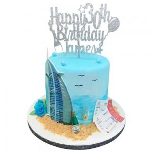 Burj Al Arab Holiday Cake