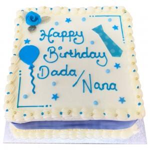 Square Nana Dads Buttercream Cake