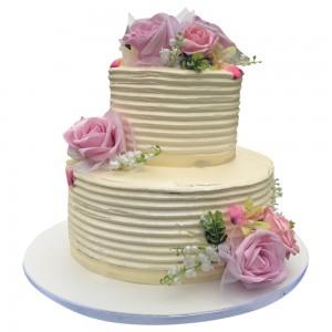 2 tier buttercream engagement cake