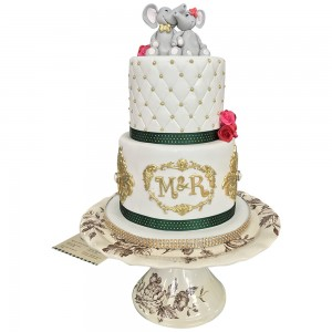 Elephant Topper Wedding cake