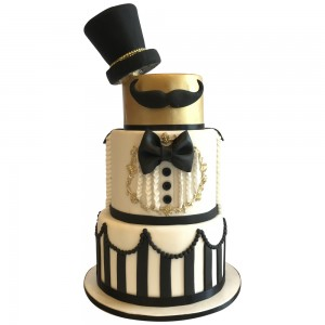 Black Tie Wedding Cake
