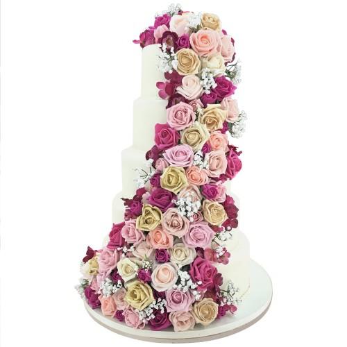 Rose Trail Wedding Cake