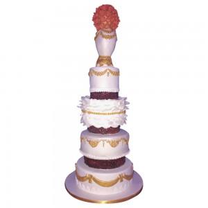 4 tier chalice wedding cake