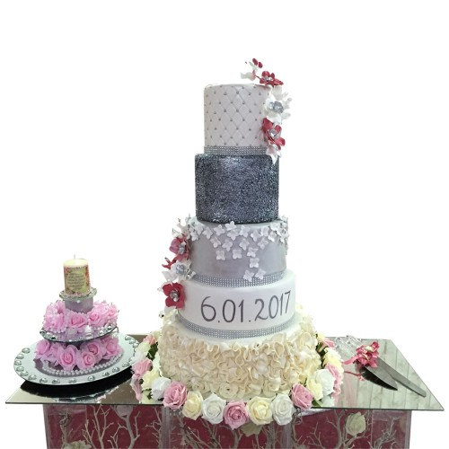 Silver Selection Wedding Cake