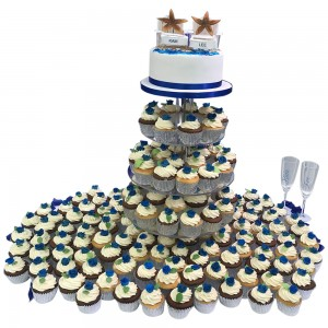 Cupcake Tower Wedding Cake