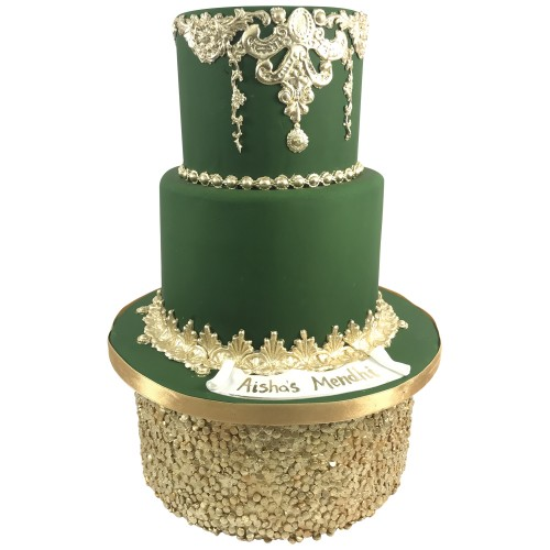 Forest Green Mendhi Cake