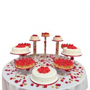 Rose Cupcake Bundle Wedding Cake